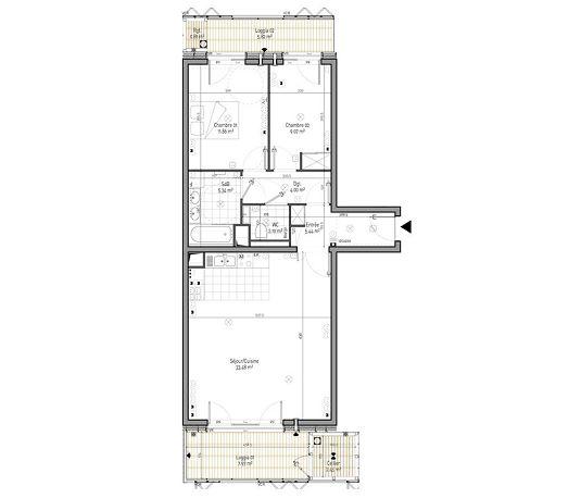 Appartement n b12 cardinet 17 t3 de m paris for Appartement meuble paris 17eme