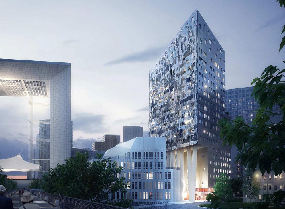 Paris la d fense skylight 75 77m 18 tages for Maison de la mode puteaux