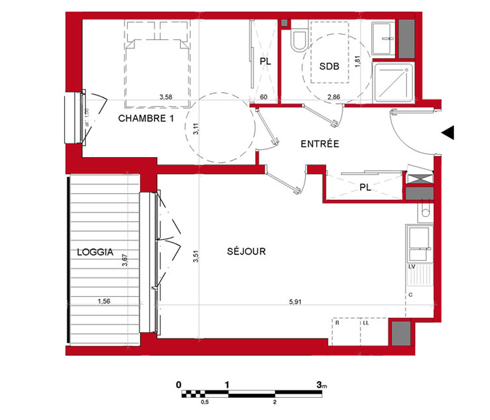 plan appartement anglais