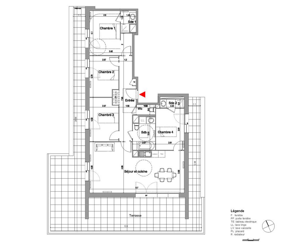 plan appartement lyon