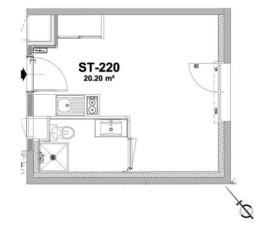 appartement n 220 la rivi re studio de m nantes nord. Black Bedroom Furniture Sets. Home Design Ideas