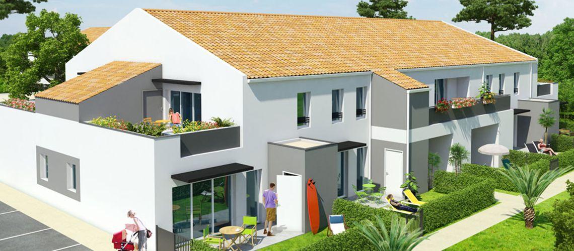 les jardins d audrey programme neuf ch teau d 39 olonne. Black Bedroom Furniture Sets. Home Design Ideas