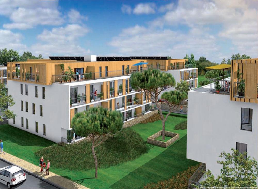 R sidence karlina programme neuf vannes 31 logements for Cote jardin vannes 2016