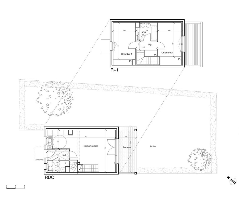 Plan Maison T3 Ground Floor Plan Picture For Modern House