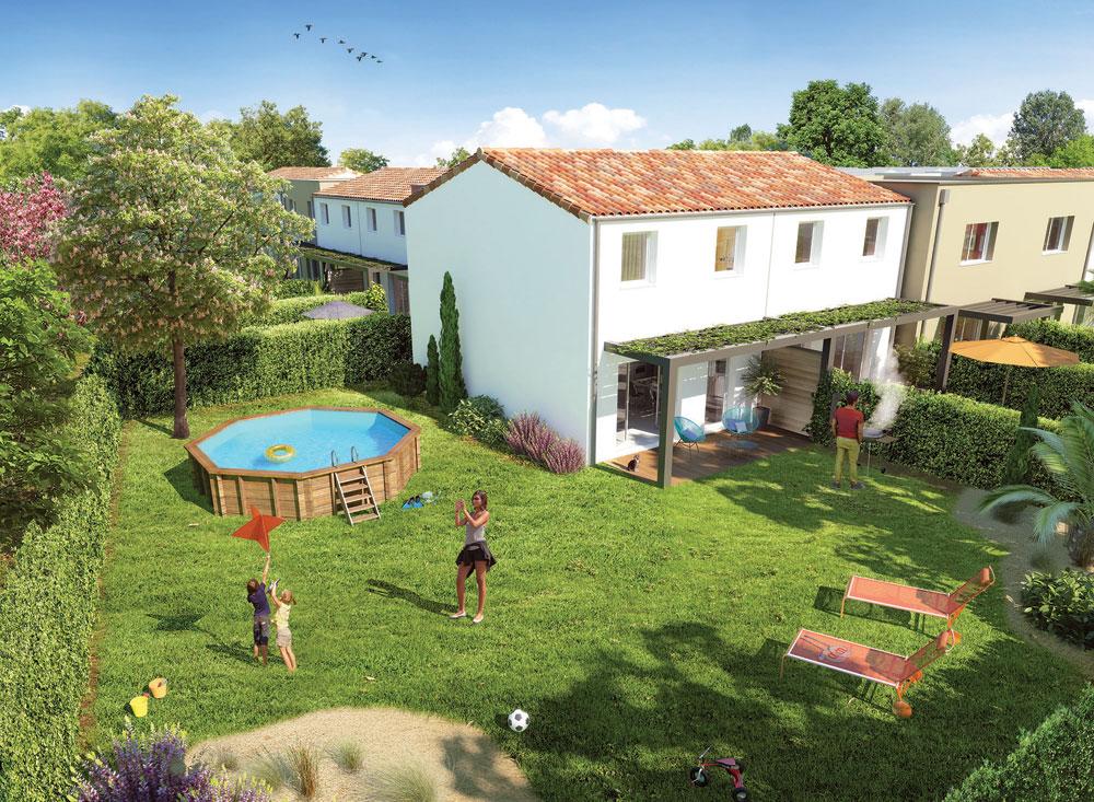 Jardins de pira programme neuf manosque for Neuf maison