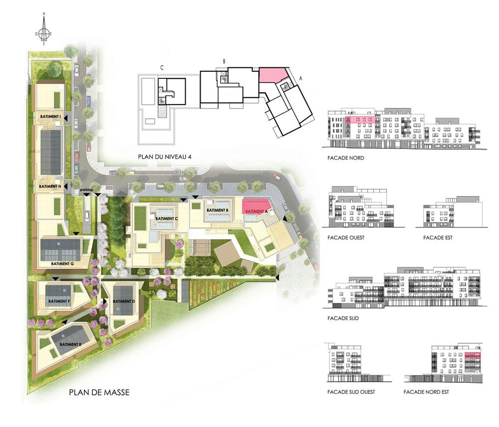 Appartement n 01a405 le jardin des elements t3 de for Appartements le jardin