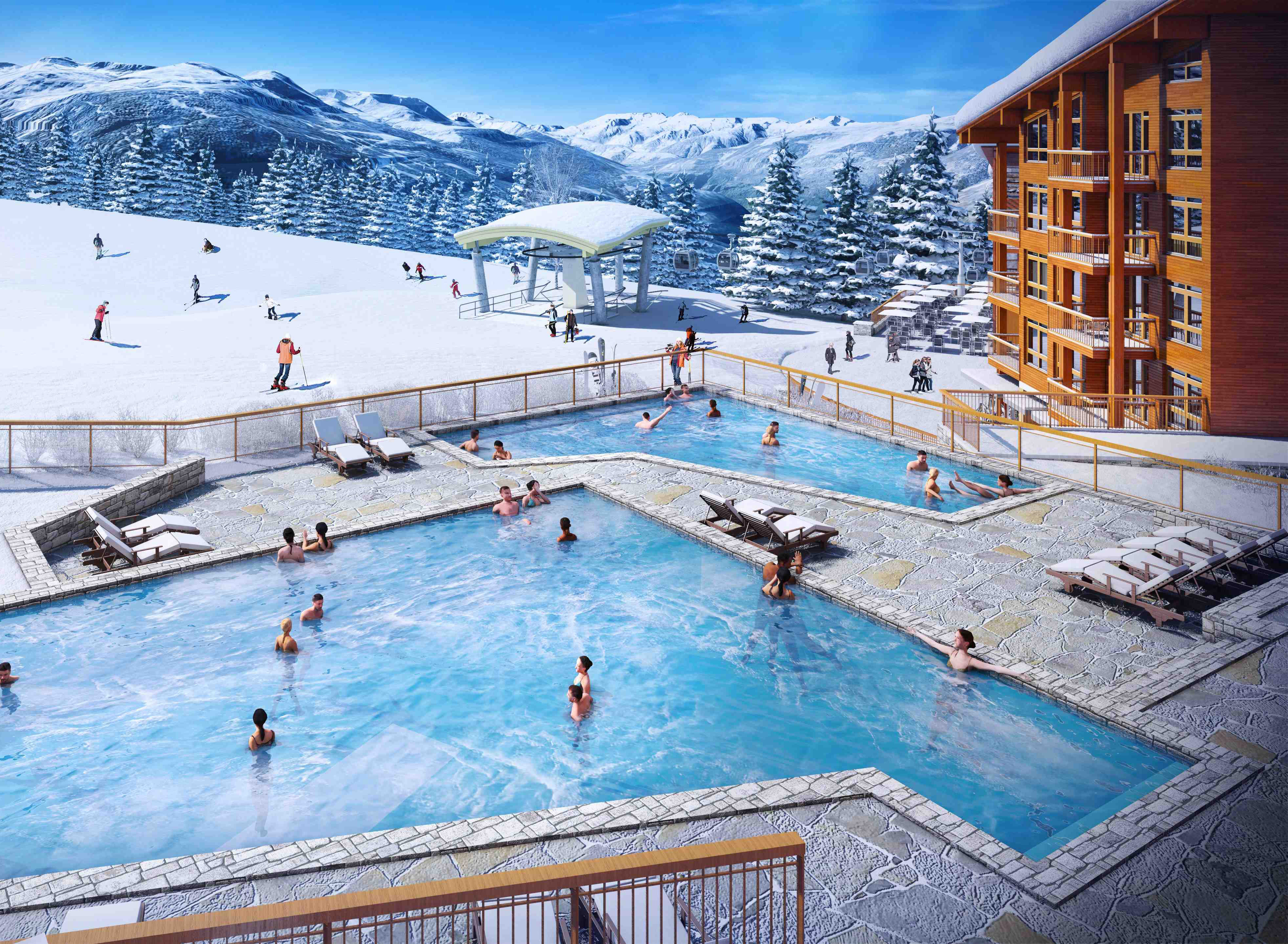 Edenarc 1800 bat c phase i programme neuf bourg saint for Bourg st maurice piscine