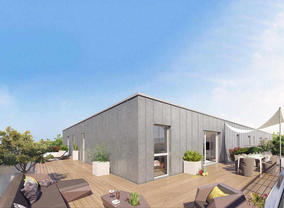 Les rives ouest programme neuf la rochelle for Exemple amenagement terrasse