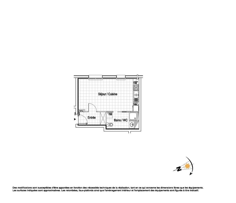 appartement n b03 la belle epoque t1 de m wimereux. Black Bedroom Furniture Sets. Home Design Ideas