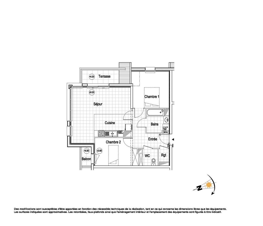 appartement n a31 la belle epoque t3 de m wimereux. Black Bedroom Furniture Sets. Home Design Ideas