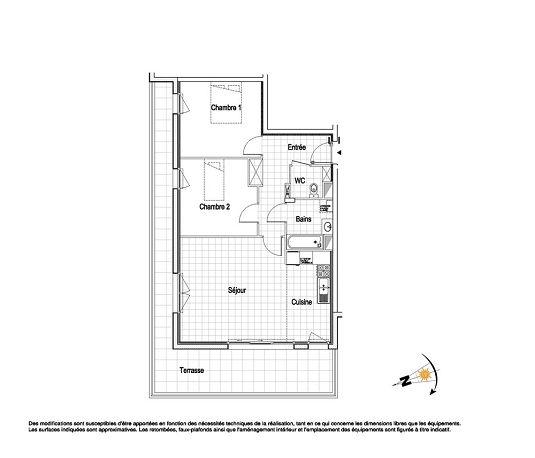 appartement n a06 la belle epoque t3 de m wimereux. Black Bedroom Furniture Sets. Home Design Ideas