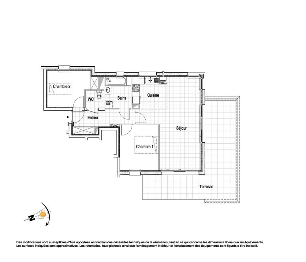 appartement n c01 la belle epoque t3 de m wimereux. Black Bedroom Furniture Sets. Home Design Ideas