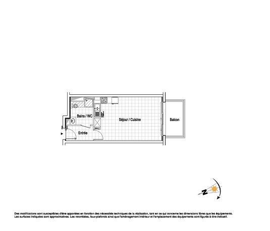 appartement n a25 la belle epoque t1 de m wimereux. Black Bedroom Furniture Sets. Home Design Ideas