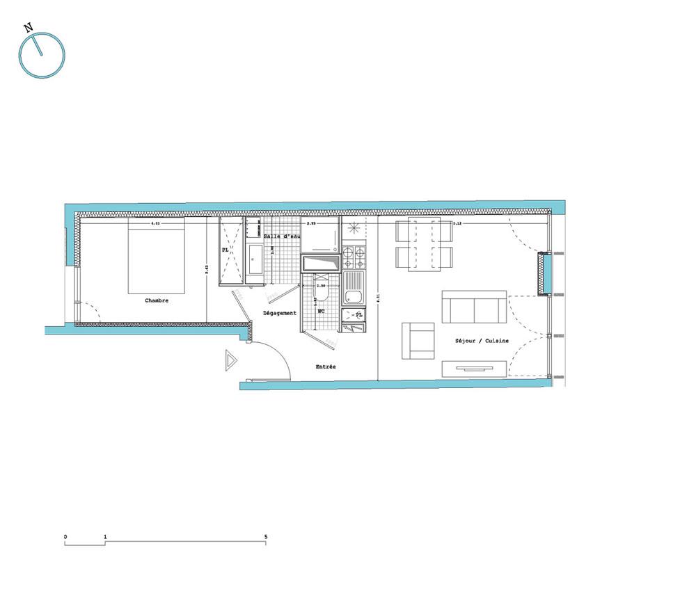 Appartement n 2r le stella t2 de m bordeaux la for Appartement neuf bordeaux bastide