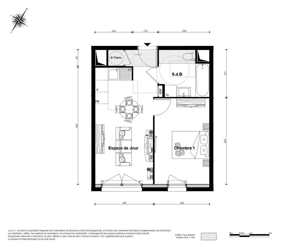 Plan D Appartement T2 Photos De Conception De Maison