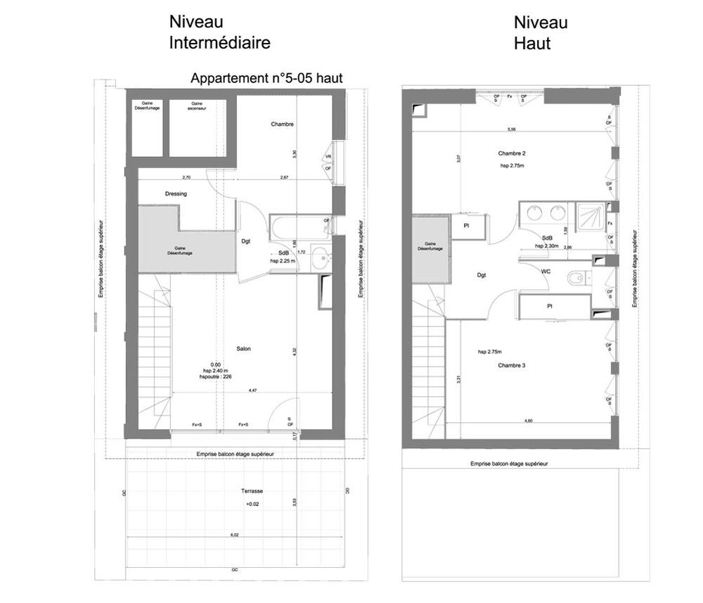 Plan des duplex des id es novatrices sur la conception for Plan maison duplex