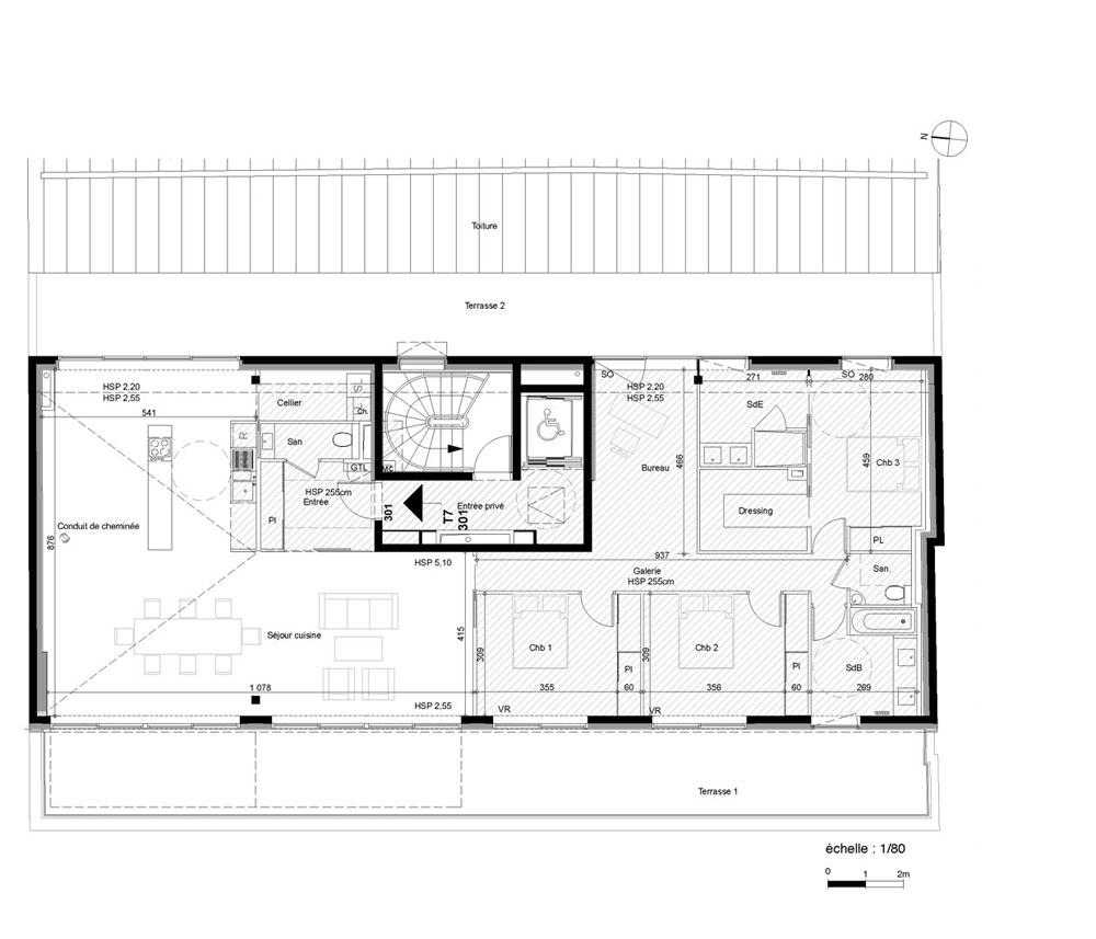 Appartement n 301 le 10 passage louis levesque t7 de for Plan maison igc