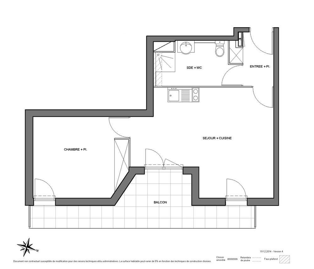 Appartement n b36 jardin saint exup ry t2 de m for Appartement jardin 78