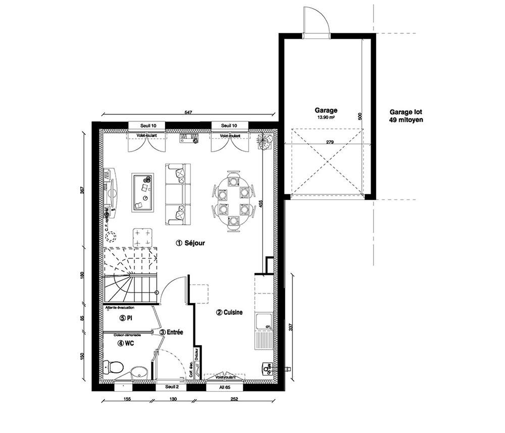 Maison n 48 la closerie de l aqueduc t4 de m for Programme plan maison