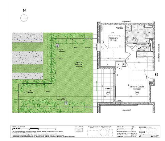 Appartement n 4 villa armor t2 de m betton for Plan betton