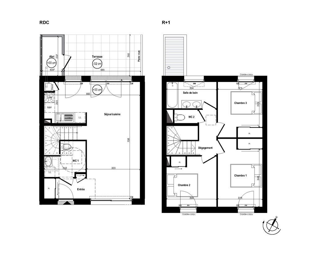 Plans de la maison de 82 m a saintes pictures to pin on for Programme plan maison