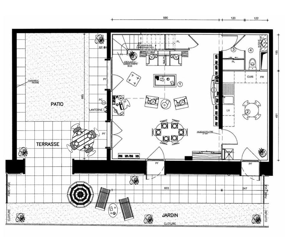 appartement n 2115 le village bacalan t4 de m bordeaux maritime. Black Bedroom Furniture Sets. Home Design Ideas