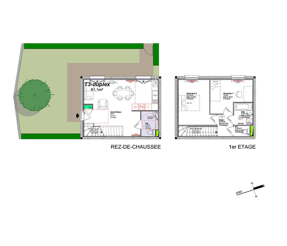 Duplex n a1 chemin des viougues t3 de m salon - Programme immobilier salon de provence ...