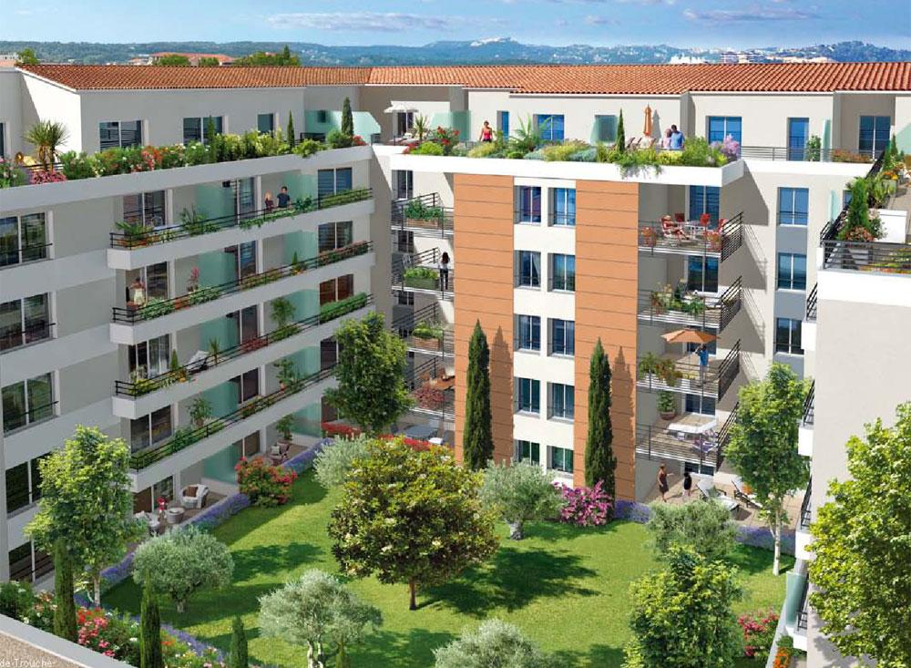 Villa paloma programme neuf vallauris for Programme jardin