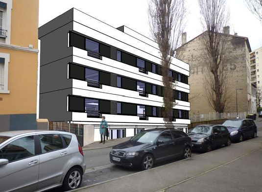 Appartement n 301 les peupliers t1 de m for Garage rue des bienvenus villeurbanne