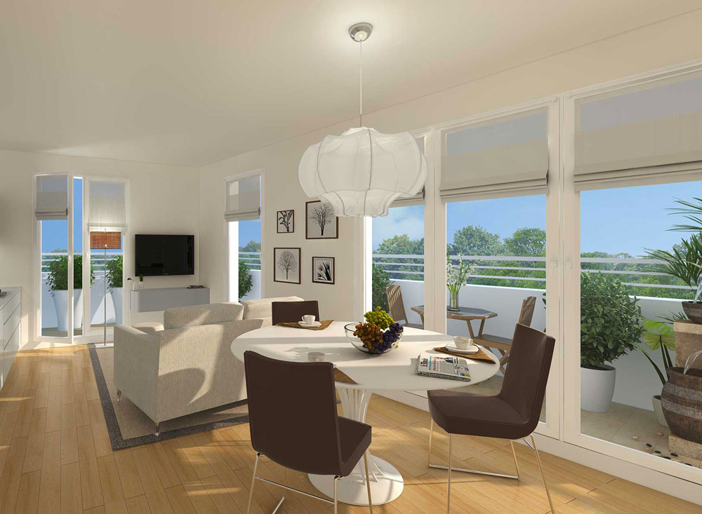 les terrasses de capeyron programme neuf m rignac. Black Bedroom Furniture Sets. Home Design Ideas