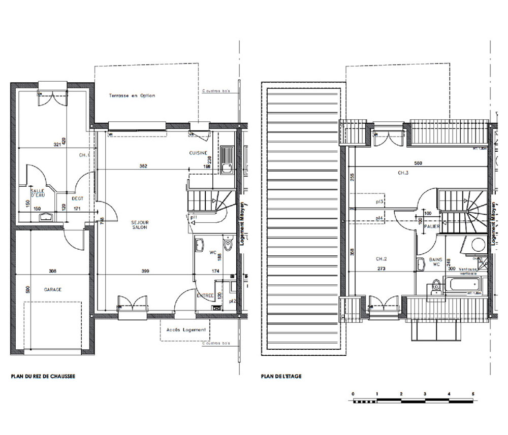 maison n r1 le domaine du bois fleuri t4 de m pluneret. Black Bedroom Furniture Sets. Home Design Ideas