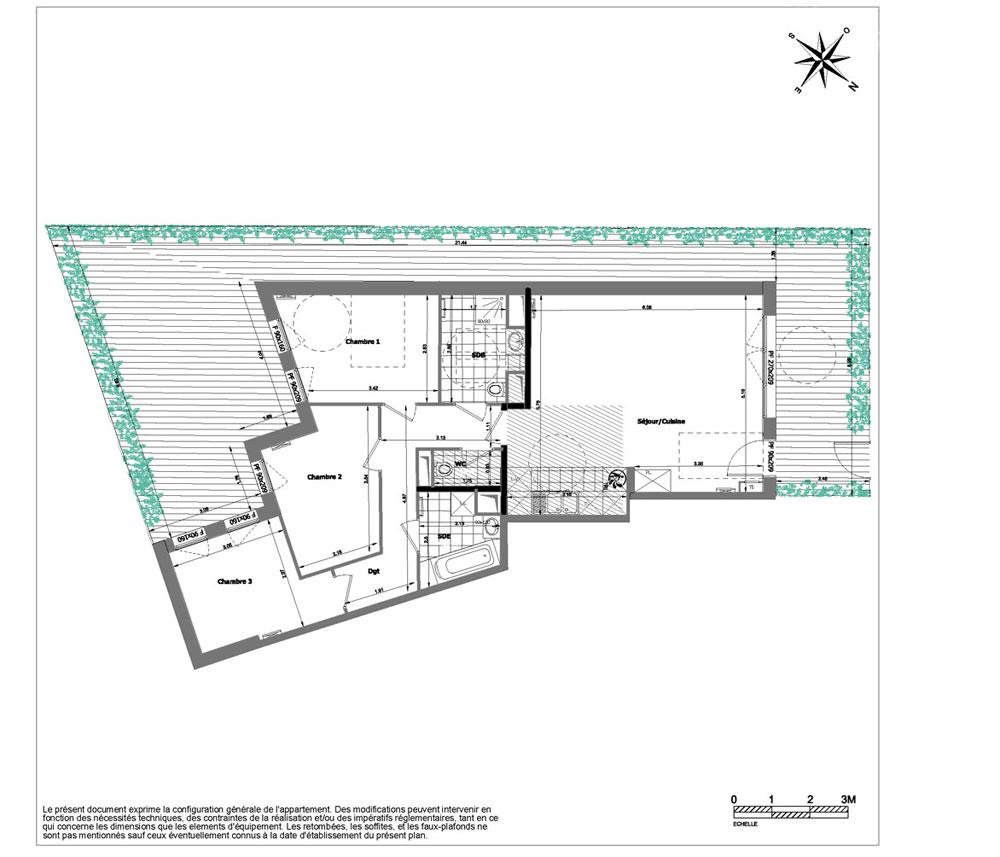 Appartement n a010 kristal park t4 de m viroflay for Piscine viroflay