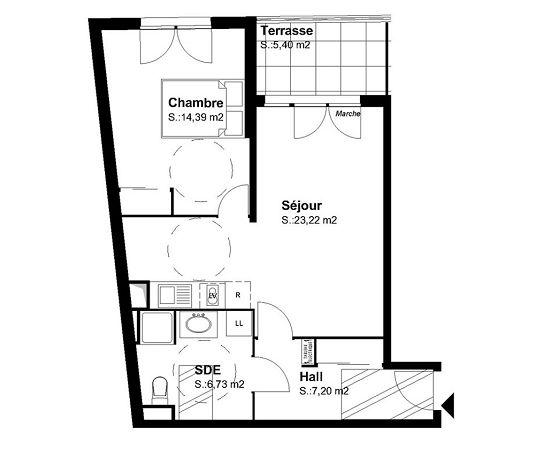 Appartement n b27 jardin secret t2 de m for Entretien jardin castelnau le lez