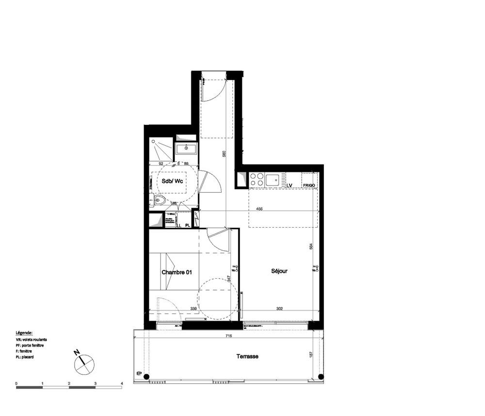Appartement n a14 op ra chartrons t2 de m for Appartement bordeaux chartrons t2