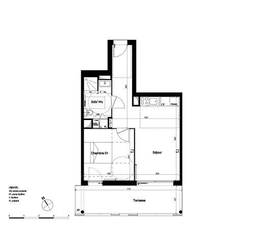 Appartement n a24 op ra chartrons t2 de m for Appartement bordeaux chartrons t2