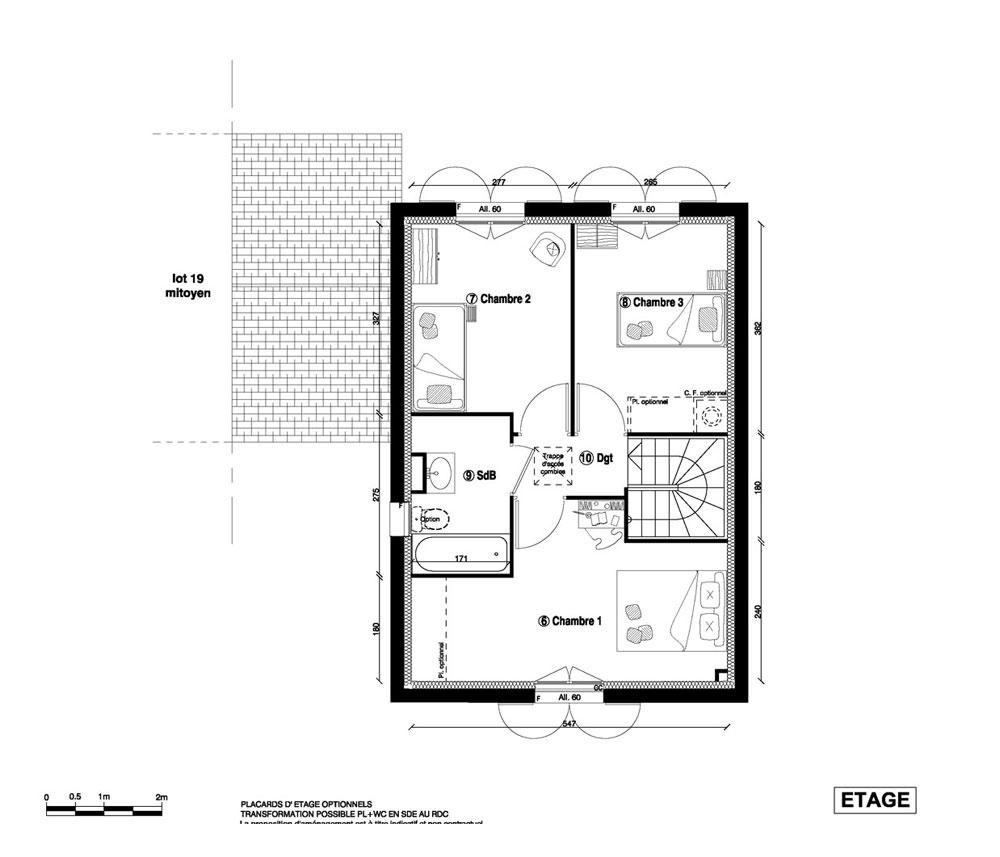 Maison n 20 les jardins du chateau t4 de m for Plan maison t4