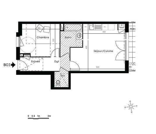 appartement n b03 kanope t2 de m lyon 9 me arrondissement. Black Bedroom Furniture Sets. Home Design Ideas