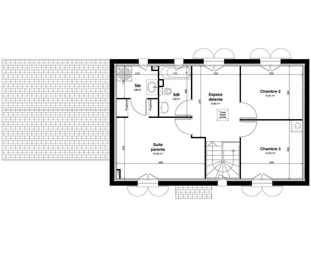 Maison n 10 les jardins de la sente t5 de m for Plan de maison facile