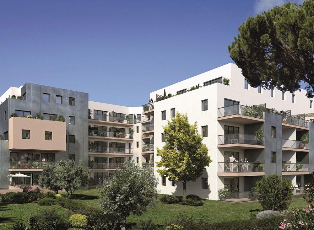 Le jardin des beaux arts programme neuf montpellier - Residence les jardins de l aqueduc montpellier ...