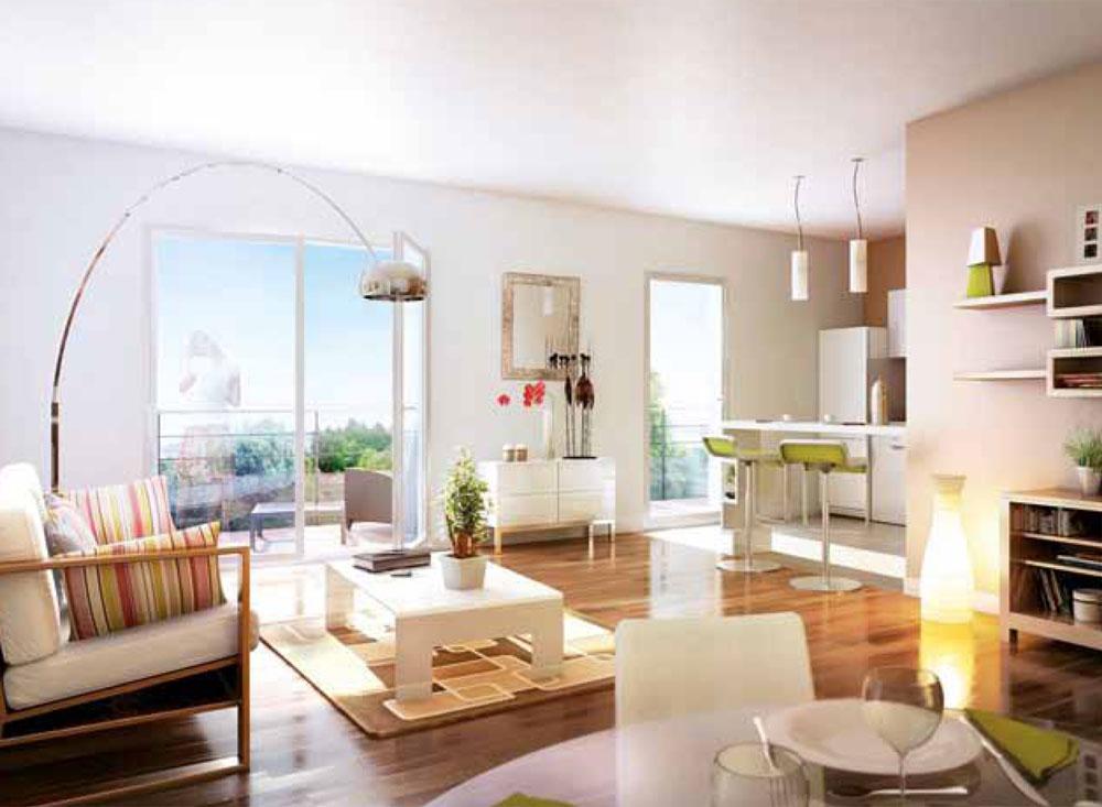 appartement vert d co sphair. Black Bedroom Furniture Sets. Home Design Ideas