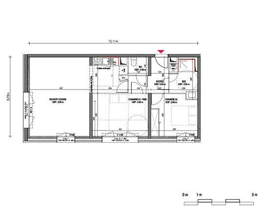 Appartement n b1204 riveo t3 de m bordeaux la for Appartement neuf bordeaux bastide