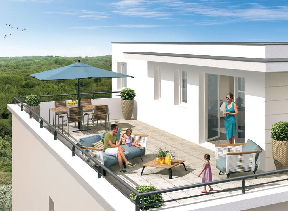 les terrasses de l olivier programme neuf villeneuve l s avignon. Black Bedroom Furniture Sets. Home Design Ideas