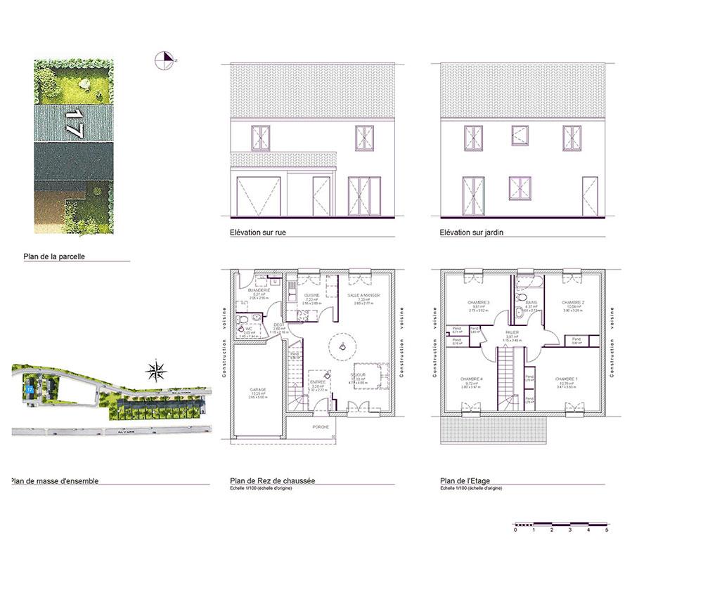 Maison n m017 le hameau de saint andr t6 de m for Programme plan maison