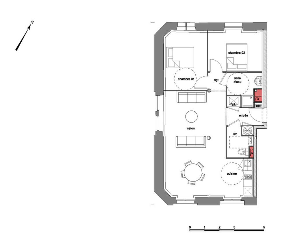 appartement n 160201 grand s minaire richelieu t3 de m chamali res. Black Bedroom Furniture Sets. Home Design Ideas