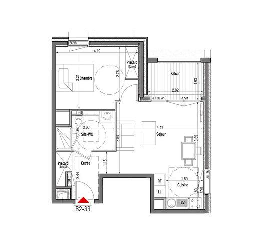 appartement n 01b233 open air t2 de m lyon 3 me arrondissement. Black Bedroom Furniture Sets. Home Design Ideas