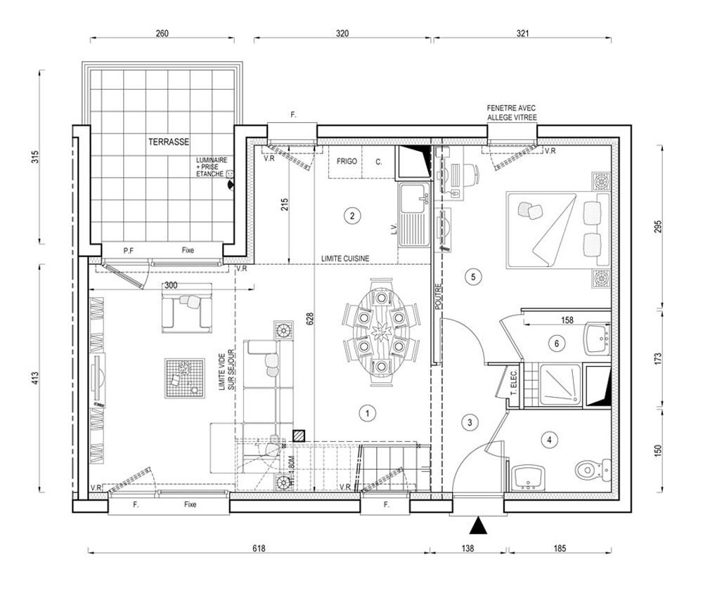 maison  coeur bayonnes  de    herblay