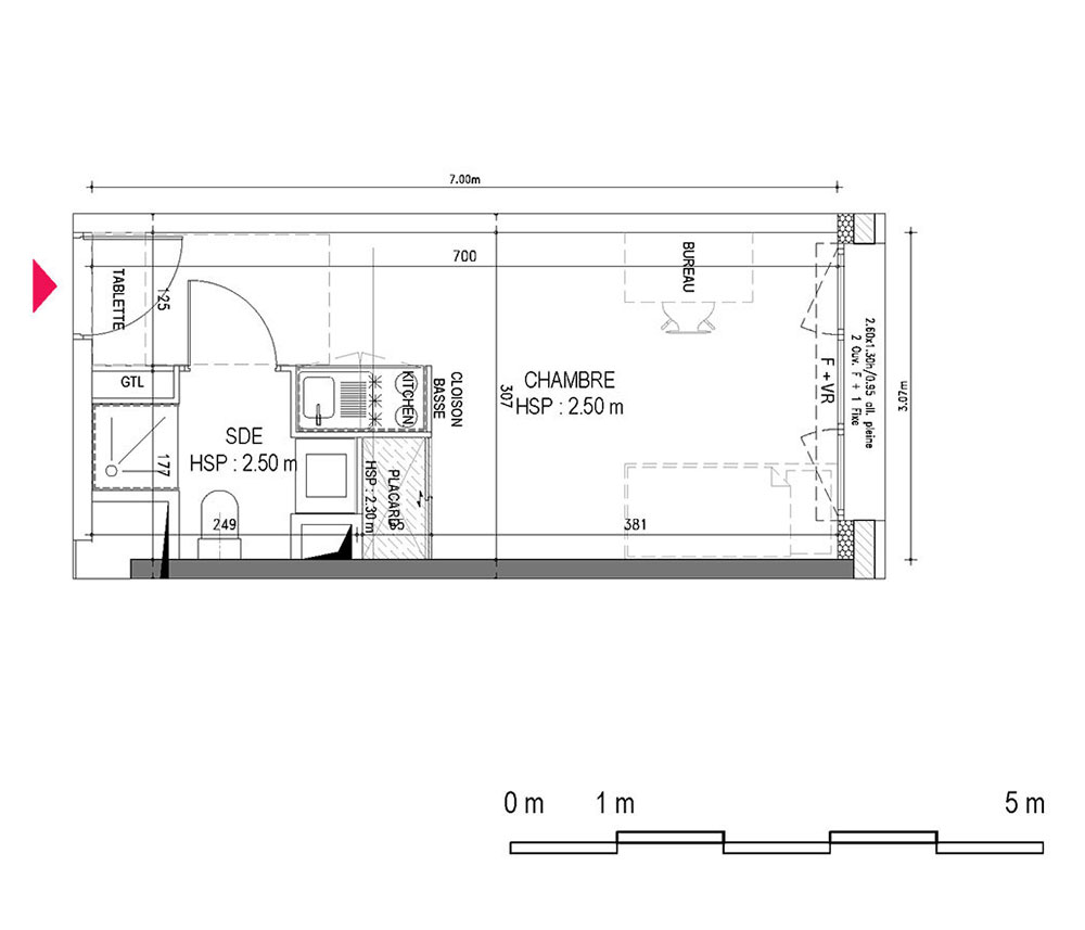 Appartement n 12 campus queyries a t1 de m for Appartement neuf bordeaux bastide